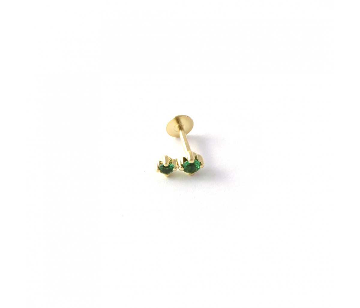 Green Tami 18k gold piercing