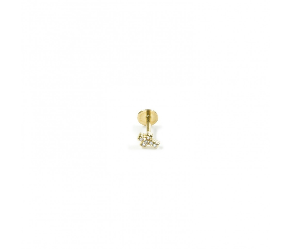 Cruz 18k gold piercing
