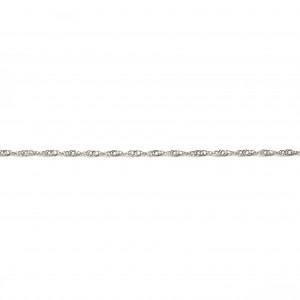 Chaine torsasée dorée 45 - 55 cm