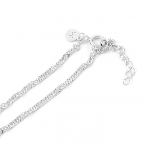 Twisted silver chain 45 - 55 cm